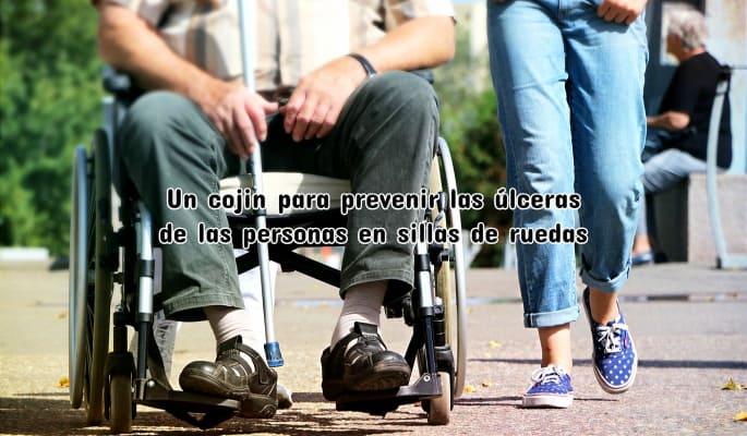 Un cojin para prevenir las úlceras de las personas en sillas de ruedas